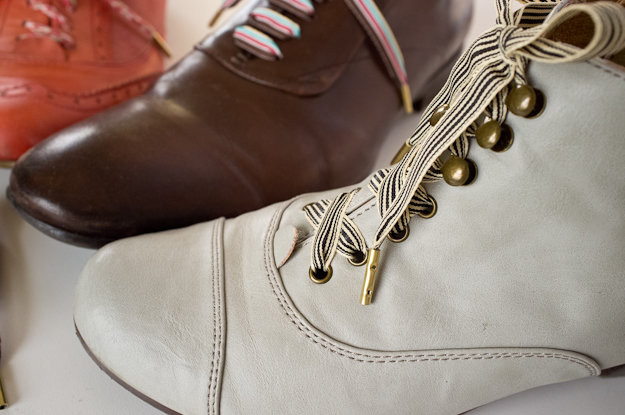diy gift idea: luxury metal-tipped shoelaces