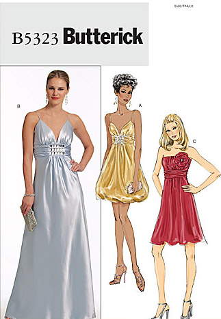 butterick pattern b5323 Easy Dress Sewing Patterns